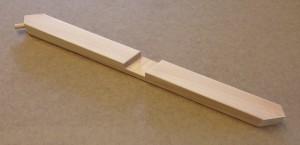 Detalj till trägrind